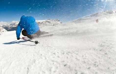 Esquiar entre glaciares
