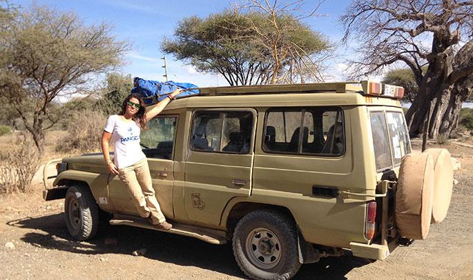 Carmen de safari en Tanzania