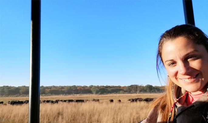 Ana en el Parque Kruger