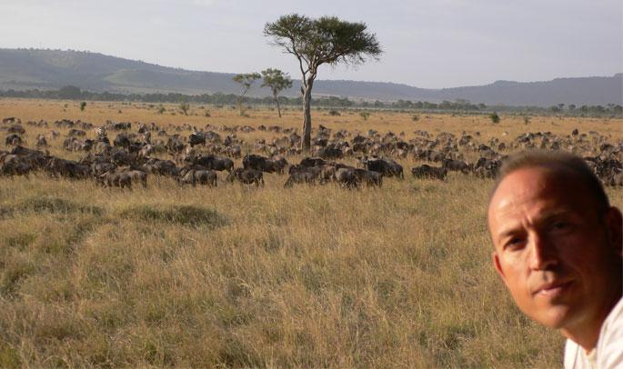 Guillermo en Masái Mara