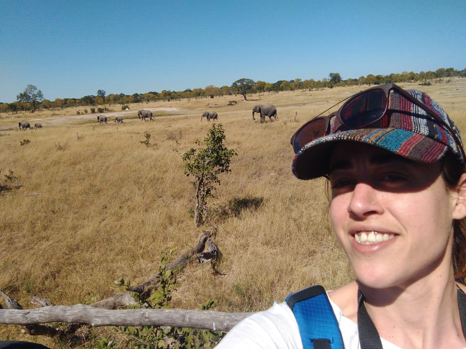 María en el Parque Kruger