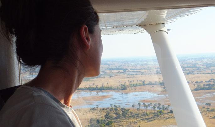 Patricia sobrevolando el Delta