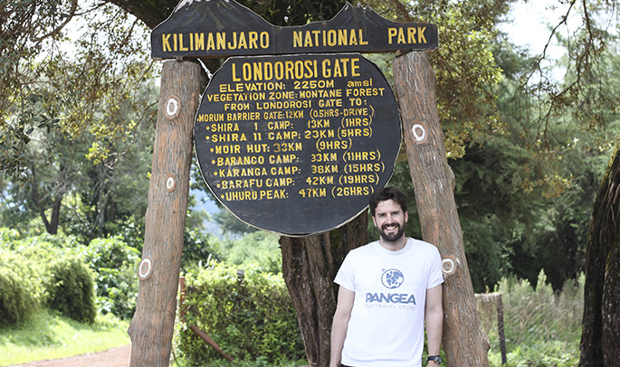 Miguel en el Kilimanjaro
