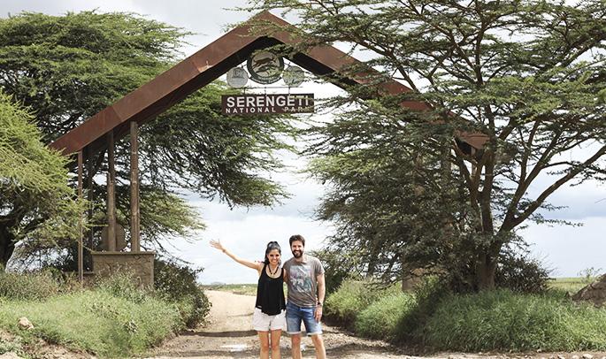 Entrada al Serengeti