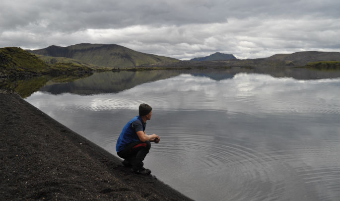 Bram en Landmannalaugar, Islandia