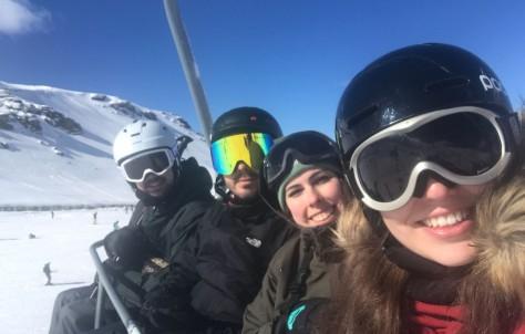 Marcha, sol y nieve