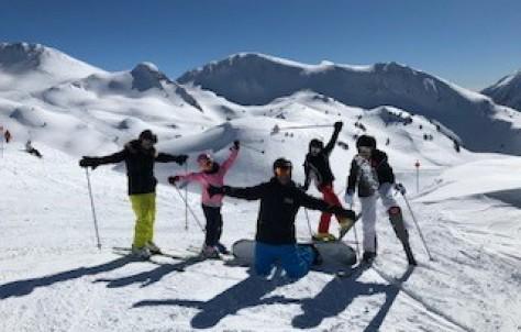Esquiando en Baqueira