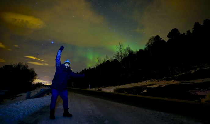 Auroras boreales en Tromso