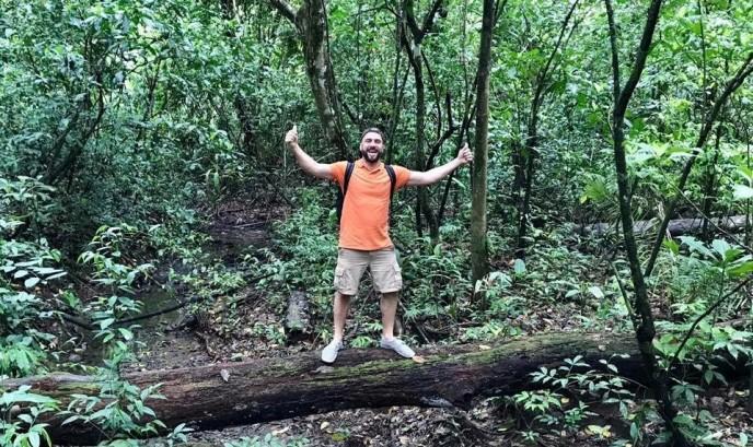 Rodrigo en Parque Nacional de Manuel Antonio