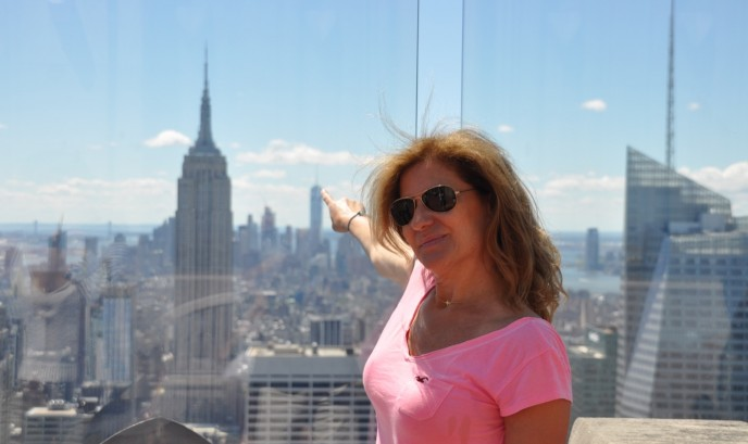 Gema en Top of the Rock
