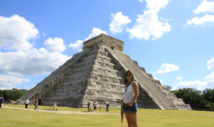 Carmen en Chichén Itzá