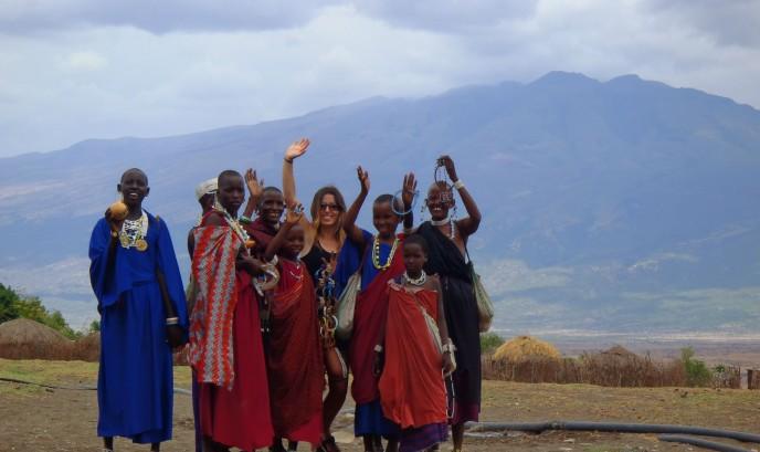 Lidia con la tribu Masái