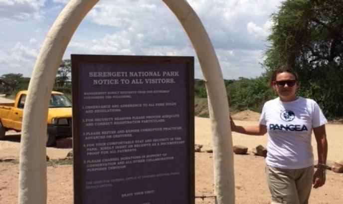 Mayte en Serengueti