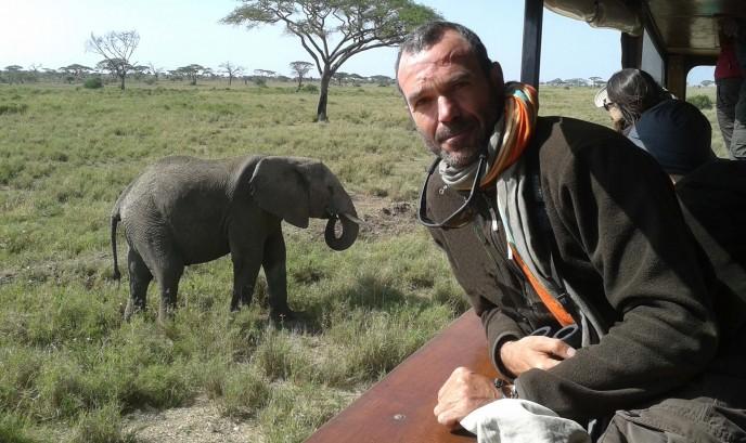 Javier en Serengueti