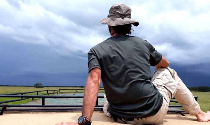 Carlos en el Parque Nacional Queen Elisabeth