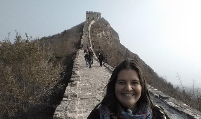 Eva en la Muralla China
