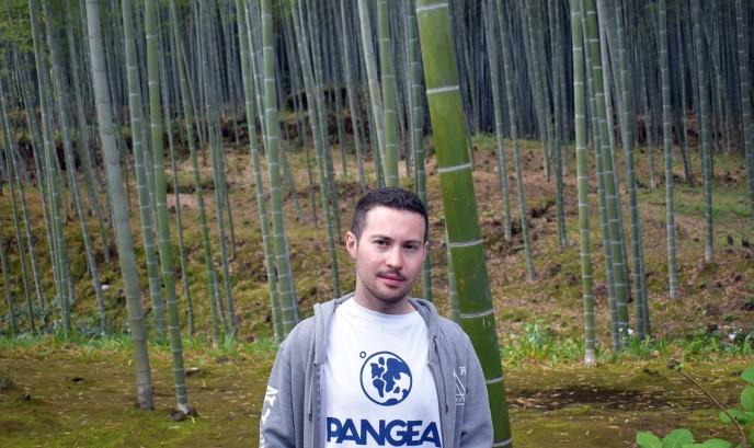 Juan en el bosque de Bambú, Kyoto