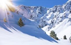 Valles nevados en Pas de La Casa, Andorra