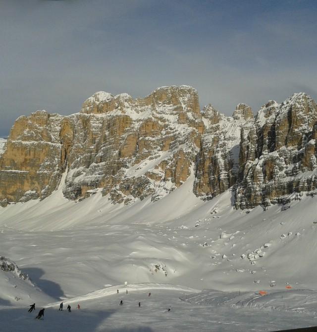 Esquí en la Sella Ronda en Selva Gardena, Italia