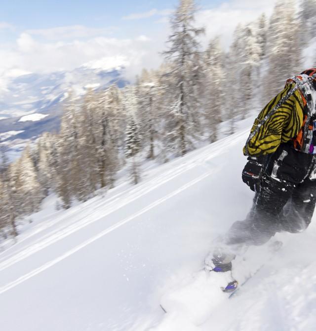 Snowboard en Selva Gardena, Italia