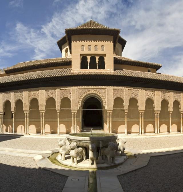Patio de los Leones, Alhambra de Granada en Granada