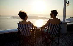 puesta de sol en Grecia