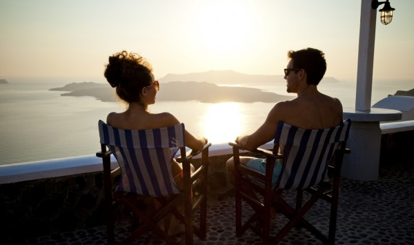 puesta de sol. Viaje a Grecia  con PANGEA The Travel Store