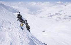 Esquiadora en Val Thorens, Francia