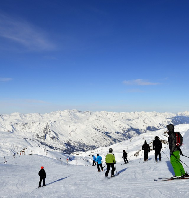 Pista de esquí en Val Thorens, Francia