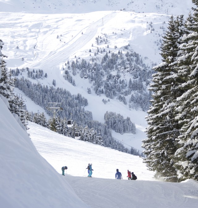 Snowboarder en Val Thorens, Francia