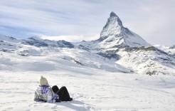 Preciosa vista del Matterhorn en Zermatt, Suiza