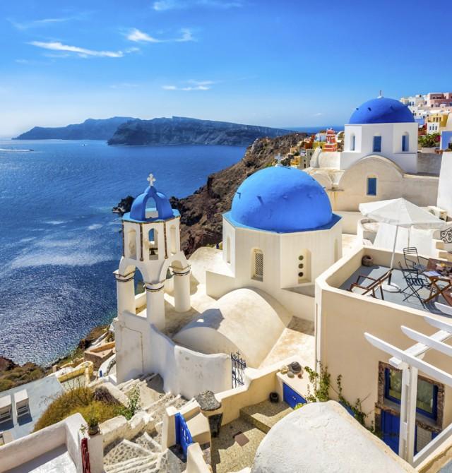 Santorini en Italia, Croacia, Grecia, Francia, España