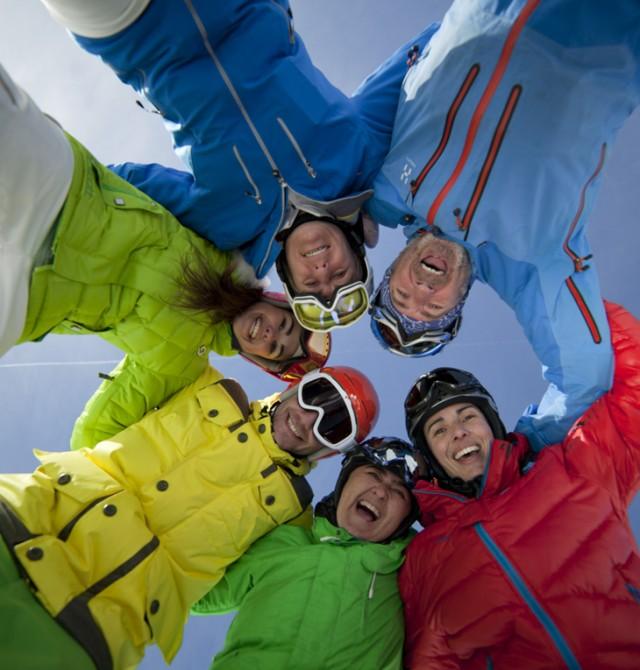 Esquí con amigos