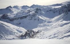Nieve y más nieve en Tignes, Francia