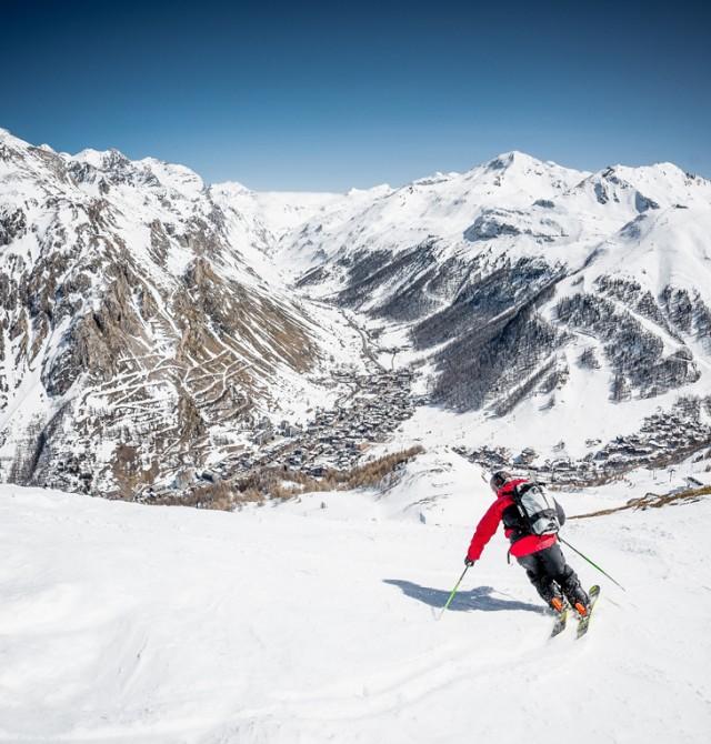 pista esquí en Val D'Isère, Francia