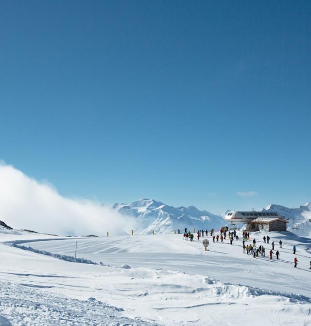 Pista de esquí en Val D'Isère, Francia