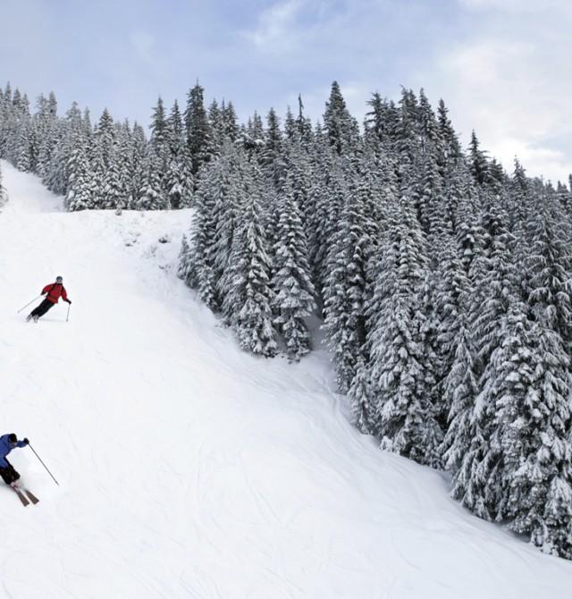 Nieve y más nieve en Soldeu, Andorra