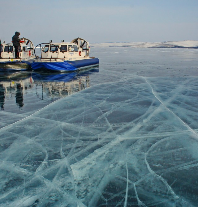 El hielo infinito en Rusia