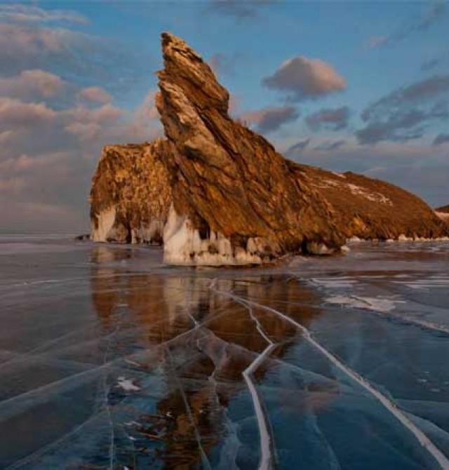 Mar de hielo en Rusia
