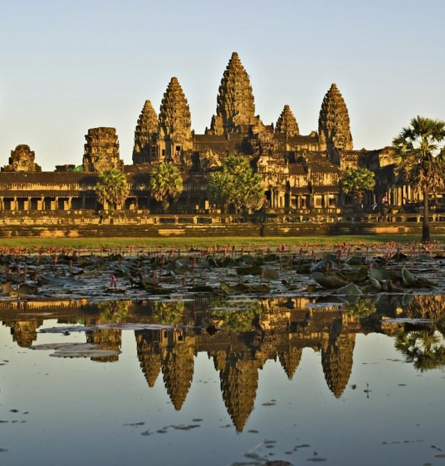 Angkor Wat en Myanmar, Vietnam y Camboya