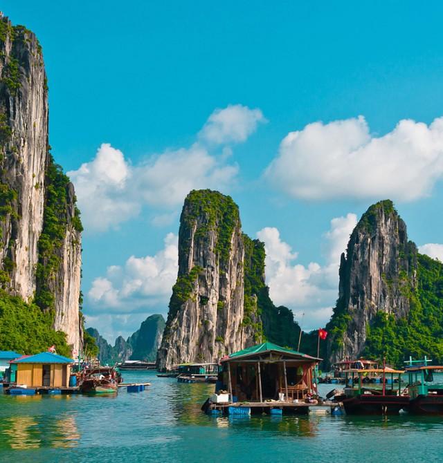 Bahía Halong en Myanmar, Vietnam y Camboya
