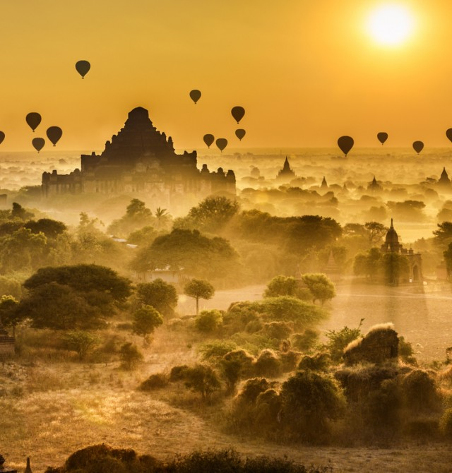 EL ATARDECER EN BAGAN en Myanmar, Vietnam y Camboya