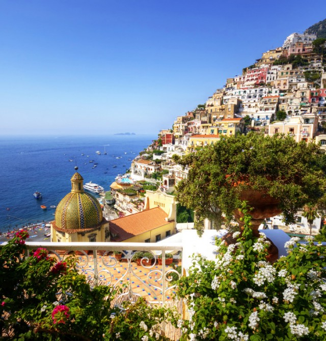La costa amalfitana en Italia