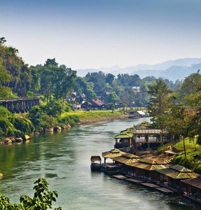 Kanchanaburi en Tailandia y Camboya