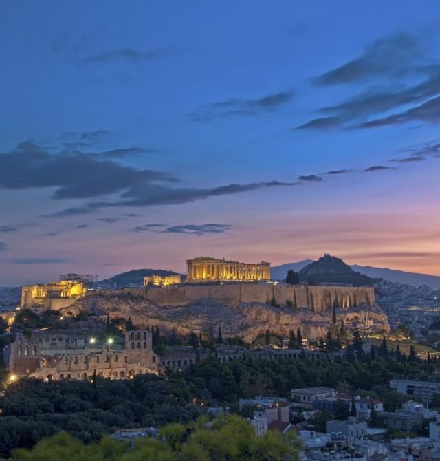 La Acrópolis en Grecia