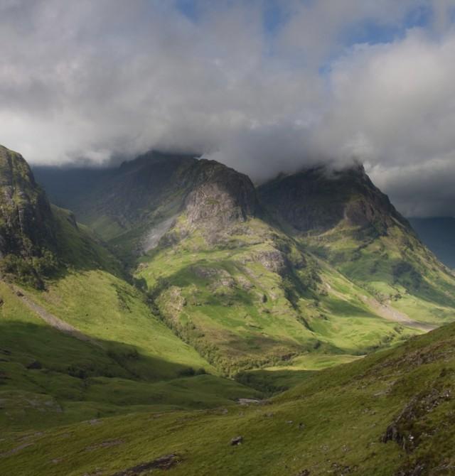 Campo de batalla en Escocia