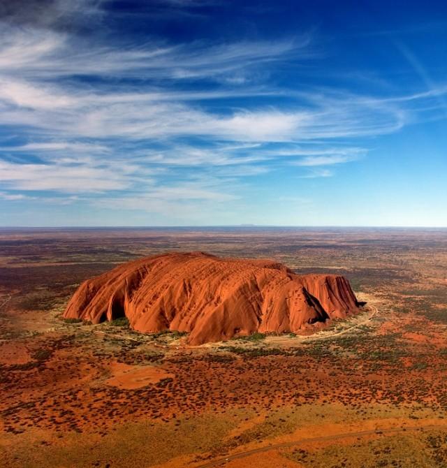 El incandescente centro rojo de Australia