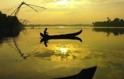 Backwaters en India