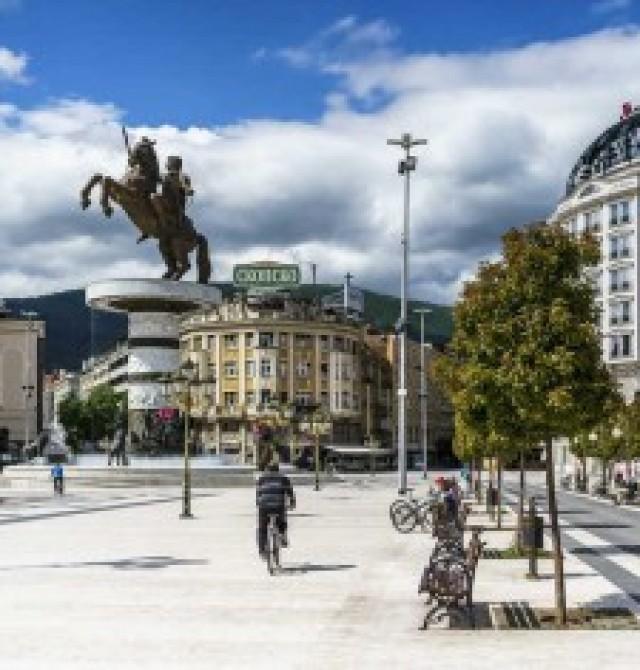 Skopje en Albania y Macedonia