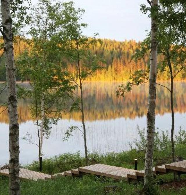 Lago Saimaa en Finlandia